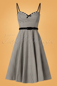 Unique Vintage Belle Checked Swing Dress 102 14 26751 20180813 0010w