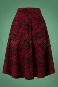 Vintage Chic Red Lace Skirt 122 27 26346 20180813 0004w