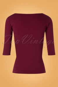 Heart of Haute Terio Top in Burgundy 113 20 26820 20180813 0006w