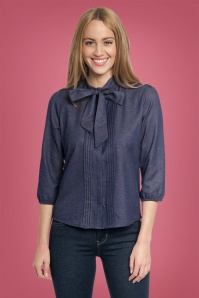 Vive Maria Victorian Denim Bow Blouse 112 30 25161 20180809 1