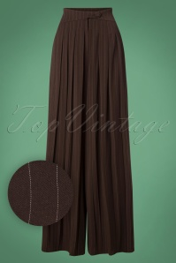 Miss Candyfloss Brown Pinstripe Trousers 26302 20180802 0002W1