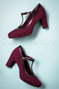 Tamaris T Strap Pump in Merlot 410 20 25776 20180809 0013w