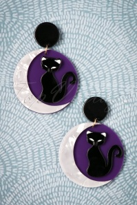 Collectif Clothing Purple Cats Earrings 333 69 25553 20180807 0008w