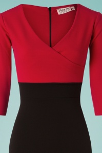 Vintage Chic 3 4 Sleeve Red Black Pencil Dress 100 20 26336 20180813 0002c