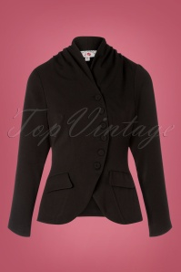 Miss Candyfloss 40s Clemence Jacket in Black