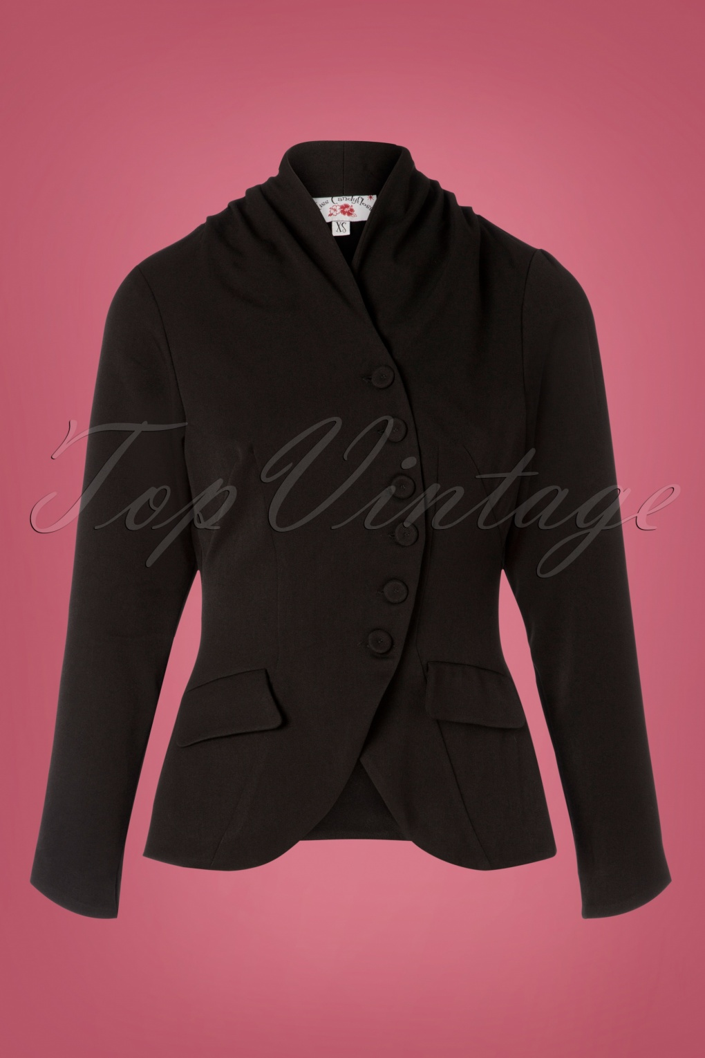 Vintage Coats & Jackets | Retro Coats and Jackets TopVintage exclusive  40s Clemence Jacket in Black £71.26 AT vintagedancer.com