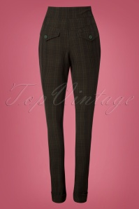 Miss Candyfloss Black Emeral Fitted Pants 26319 20180802 0032W