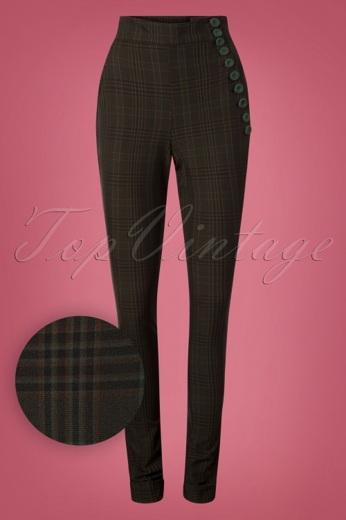 Miss Candyfloss Black Emeral Fitted Pants 26319 20180802 0024W1