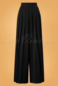 40s Anouk Wide Leg Trousers in Black