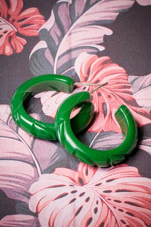 Splendette Forest Heavy Carve Fakelite Hoop Earrings 333 40 26584 08092018 011W