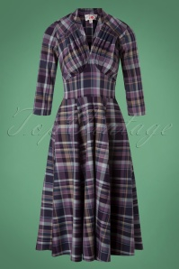 Miss Candyfloss Purple Tartan Swing Dress 102 69 26329 20180815 0002W