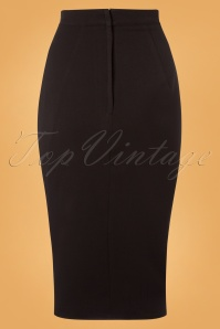 Miss Candyfloss Black Button Pencil Skirt 120 10 26296 20180815 0007W