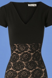 Vintage Chic Rose Lace Dress in Black and Nude 100 10 26351 20180814 0003V