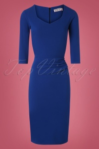 Vintage Chic 50s Cilia Pencil Dress Royal Blue 100 30 26396 20180814 0002W