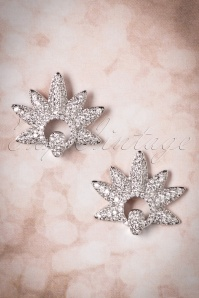 50s Frances Starburst Earstuds in Silver