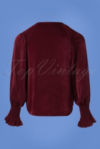 Traffic People It's All About Eve Peekaboo Top in Wine 112 20 25336 20180814 0005W