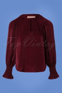 70s Its All About Eve Peekaboo Top in Wine