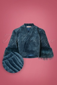 20s Gatsby Shrug in National Velvet Blue