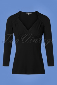 50s Sandy Sweetheart Top in Black