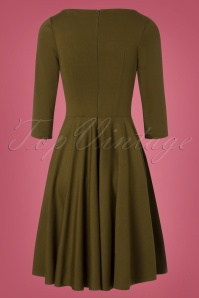 Very Cherry Ballerina Dress in Olive Green 102 40 25658 20180816 0009W