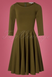 Very Cherry Ballerina Dress in Olive Green 102 40 25658 20180816 0002W