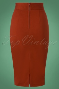 Very Cherry Pencil Skirt in Rust 120 20 25672 20180815 0005W