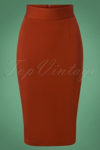 Very Cherry Pencil Skirt in Rust 120 20 25672 20180815 0003W