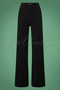 Very Cherry 40s Marlene Pants in Black