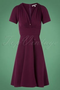 Very Cherry Smock Dress in Purple 102 60 25665 20180815 0002W