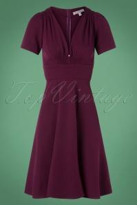 Very Cherry Smock Dress in Purple 102 60 25665 20180815 0002W