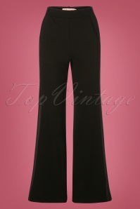 60s The Getaway Edge Flare Trousers in Black