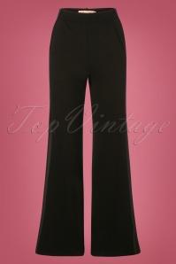 The Getaway Edge Flare Trousers Années 60 en Noir