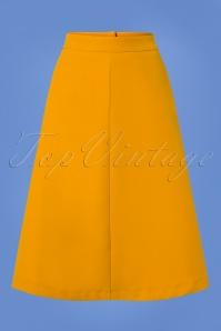 Mademoiselle Yeye Yellow Plate Skirt 122 80 25526 20180817 0002w