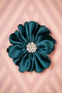 Lovely Large Fabric Flower Clip blue 208 30 26501 08142018 002W