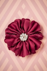 Lovely Large Fabric Flower Clip red 208 20 26500 08142018 001W