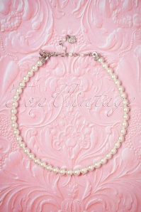 50s Grace Kelly Pearl Choker in Ivory