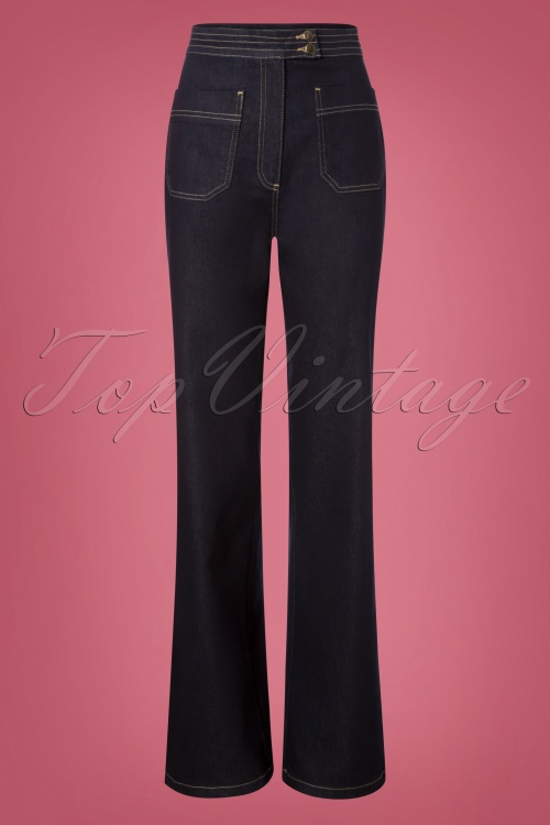 1960s Style Dresses, Clothing, Shoes UK Denim Jeans in Dark Blue £48.80 AT vintagedancer.com