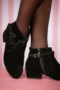 Lola Ramona Black Alice Pitch Black Booties 441 10 25393 08152018 009W
