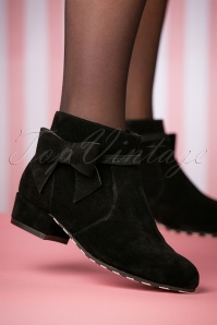 Lola Ramona Black Alice Pitch Black Booties 441 10 25393 08152018 005W