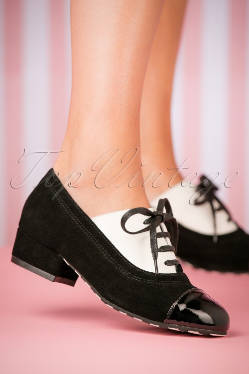 check out e11d3 f63a2 60s Alice Step It Up Shoes in Black and White