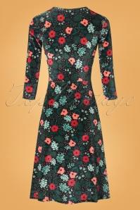 Mademoiselle Yeye Velvet Floral Cross Dress 102 14 25511 20180817 0008w