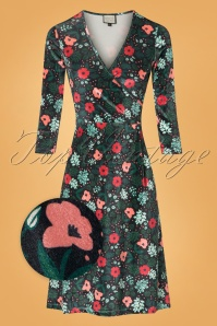 Mademoiselle Yeye Velvet Floral Cross Dress 102 14 25511 20180817 0003wv