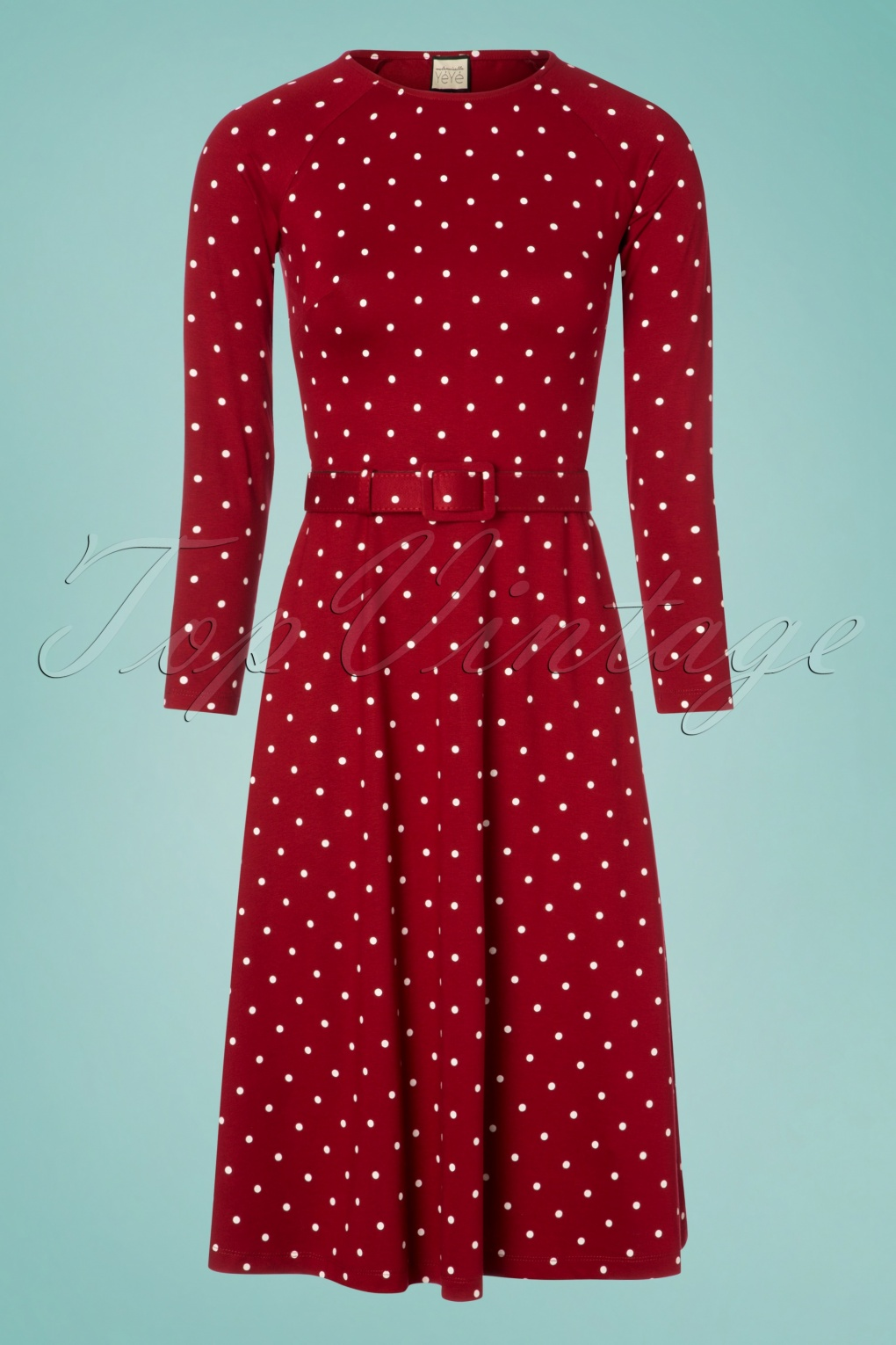 1960s Dresses | 60s Dresses Mod, Mini, Jakie O, Hippie 60s Let The Polkadots Dance Dress in Red £80.06 AT vintagedancer.com