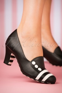 Ava Working It Pumps Années 60 en Noir