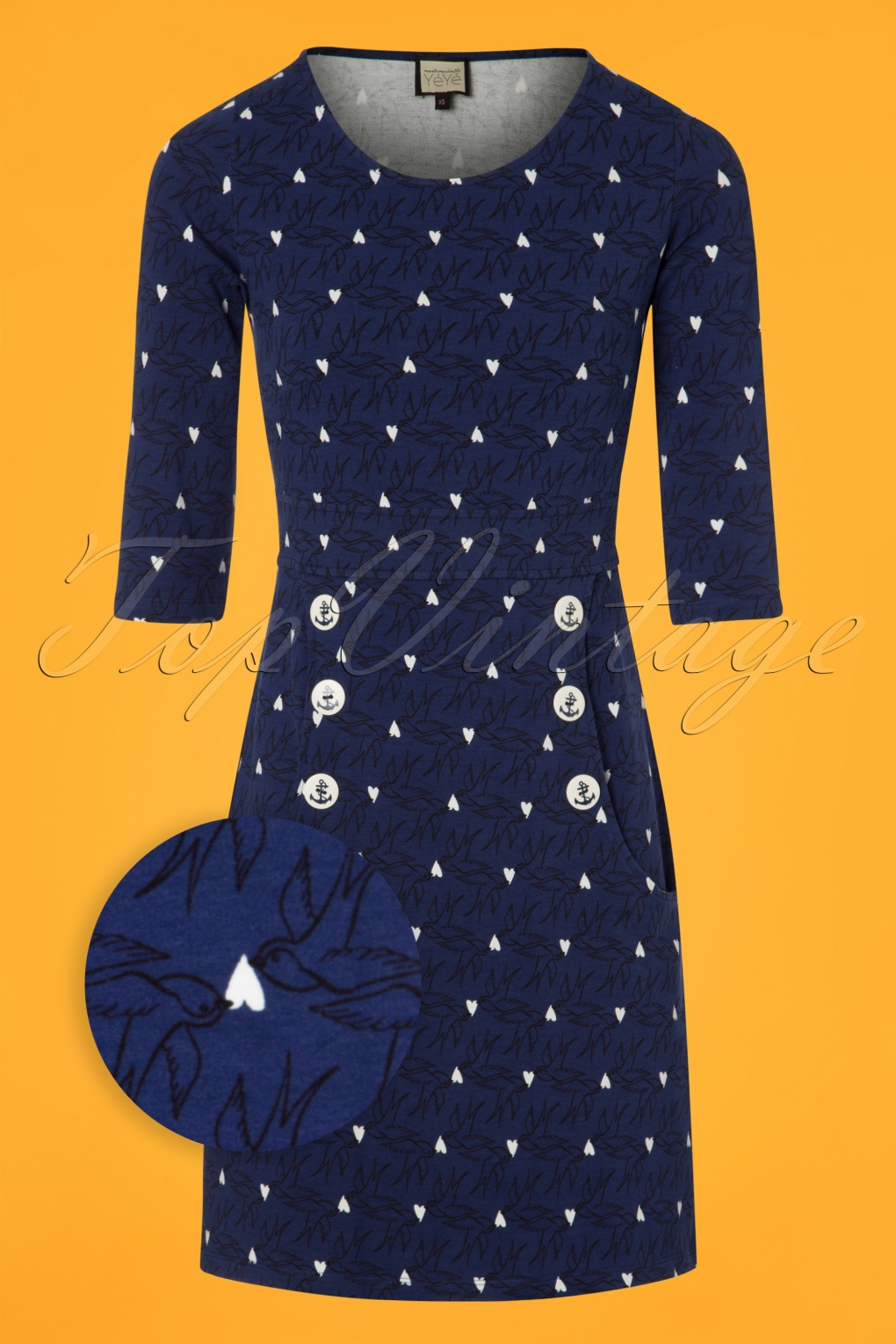 1960s Dresses | 60s Dresses Mod, Mini, Jakie O, Hippie 60s Oh My Lola Dress in Blue £93.41 AT vintagedancer.com
