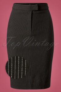 60s Dandy In Love Pencil Skirt in Black