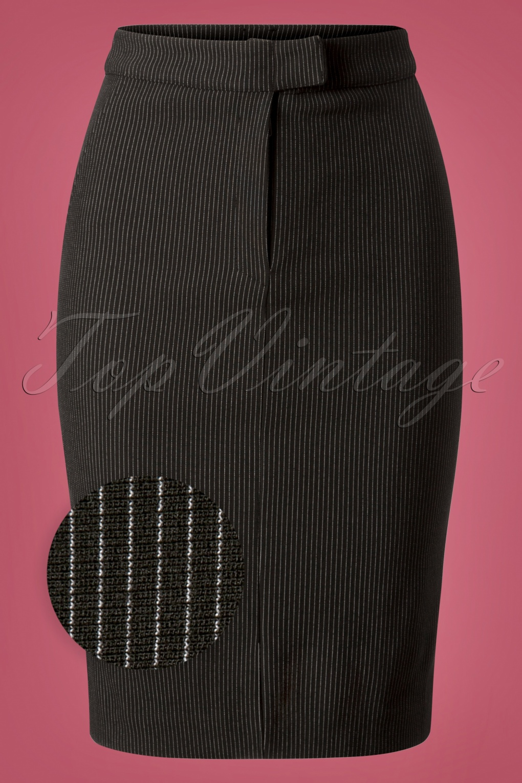 60s Skirts | 70s Hippie Skirts, Jumper Dresses 60s Dandy In Love Pencil Skirt in Black £78.54 AT vintagedancer.com