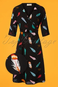 Sugarhill Boutique Aisha Vibrant Feather Dress 102 14 25568 20180817 0006wv