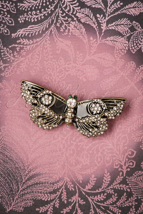 Lovely Jet Butterfly Brooch 340 10 26476 08142018 004W