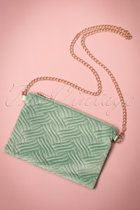20s National Velvet Clutch in Green
